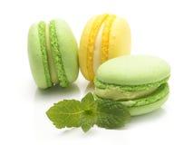 Macarons odizolowywał na białym tle Zdjęcia Stock