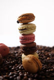 Macarons one over the other Stock Photo