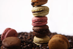 Macarons one over the other Royalty Free Stock Photography