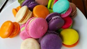 Macarons pastal mellanmål Royaltyfri Bild