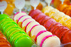Macarons. Of at a pastry shop Stock Photography