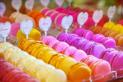 Macarons. Of at a pastry shop Royalty Free Stock Photo