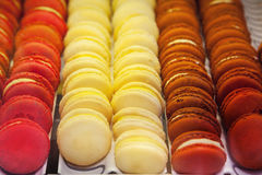 Macarons. Of at a pastry shop Stock Photos