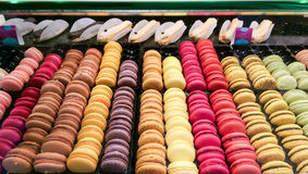Macarons at the pastry shop Royalty Free Stock Photo