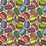 Macarons pattern Royalty Free Stock Images