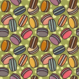 Macarons pattern Stock Photography