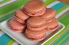 Macarons on the plate Royalty Free Stock Photography