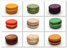 Macarons poster Royalty Free Stock Images