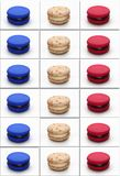 Macarons poster france flag Royalty Free Stock Photo