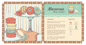 Macarons recipe Stock Photo