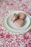 Macarons rosados Fotos de archivo libres de regalías