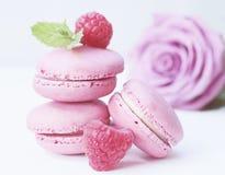 Macarons, Rose, Rose Bloom Stock Photos