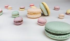 Macarons saborosos do bolo Fotos de Stock