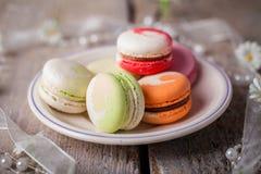 Macarons savoureux Image libre de droits