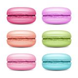 Macarons Set Vector. Realistic Tasty Colourful French Macaroons. Isolated Illustration. Royalty Free Stock Photos