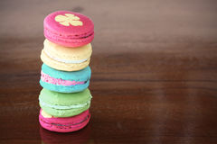 Macarons set with vintage pictures style or sweet pictures style Stock Image