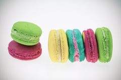 Macarons set with vintage pictures style or sweet pictures style Royalty Free Stock Photos