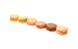 Macarons. Solated on a white background Stock Photos