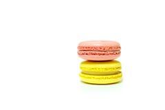 Macarons su fondo bianco Fotografia Stock