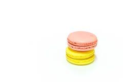 Macarons su fondo bianco Fotografia Stock Libera da Diritti