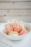 Macarons suaves del color Imagenes de archivo