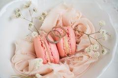 Macarons suaves del color Fotos de archivo libres de regalías