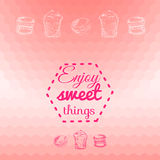 Macarons sweets background card Stock Photography