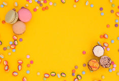 Macarons, sweets, background Stock Image