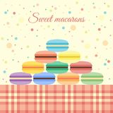 Macarons on the table Royalty Free Stock Image