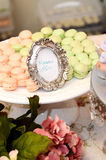 Macarons. A tray of colorful macarons Royalty Free Stock Photo