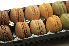 Macarons in a tray Royalty Free Stock Images
