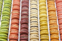 Macarons in  tray Stock Photos
