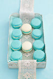 Macarons on a tray Royalty Free Stock Photos