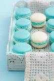 Macarons on a tray Stock Photography