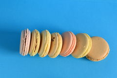 Macarons variopinti francesi Fotografia Stock Libera da Diritti