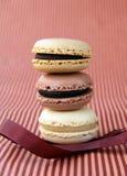 Macarons variopinti francesi tradizionali Immagini Stock Libere da Diritti