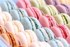 Macarons variopinto Fotografia Stock
