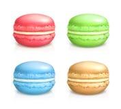 Macarons vektorsymboler stock illustrationer