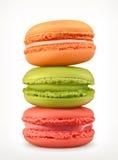 Macarons vektorsymboler royaltyfri illustrationer