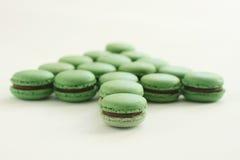 Macarons verde Imagen de archivo libre de regalías