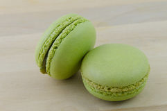 Macarons vert Photographie stock