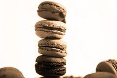 Macarons wierza Fotografia Royalty Free