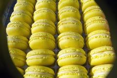 Macaronscake - snoepje - dessert - snoepje - sierlijk gebak - - zoetigheid royalty-vrije stock foto