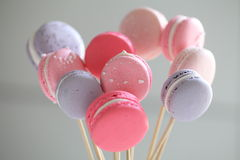 Macaroon. Close-up of macaroon on a stick Stock Photography