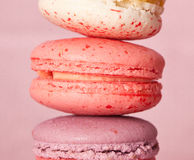 Macaroon. In pink a background Stock Photo