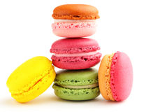 Macaroon. Places over white background Stock Image