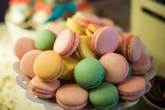 Macaroon. A bowl of delicious macaroons Royalty Free Stock Image