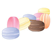 Macaroon background Stock Photos