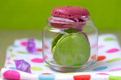 Macaroon in the bank Stock Photography
