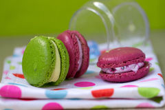 Macaroon in the bank Stock Images